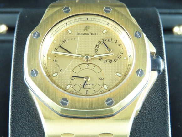 Audemars Piguet Neo Vintage Royal Oak Offshore Dual Time Power Reserve 18 ct. Yellow Gold 38 mm Limited Edition 25970