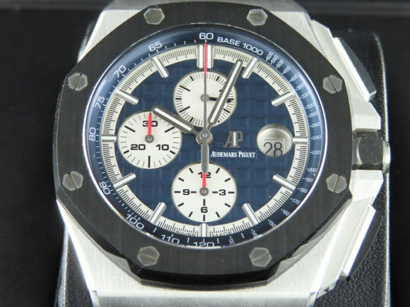 Audemars Piguet Royal Oak Offshore Chronograph Novelty Ceramic Bezel Platinum 44 mm 26401
