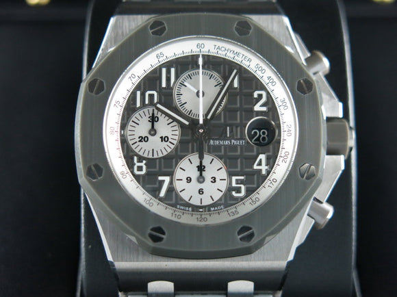 Audemars Piguet Royal Oak Offshore Chronograph Ceramic Bezel Titanium Ghost 42 mm 26470