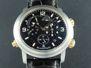 Blancpain Leman Reveil GMT Alarm 18 ct. Rose Gold / Titanium 40 mm