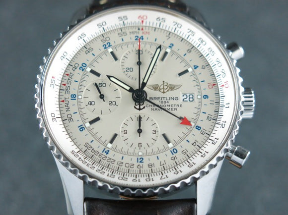 Breitling Navitimer World Chronograph GMT 46
