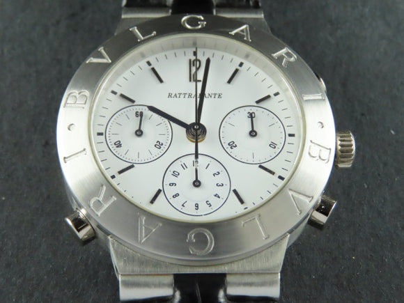 Bvlgari Diagono Split Second Rattrapante Automatic Chronograph Platinum