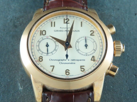 Girard Perregaux Chronograph Rattrapante Split Second 18 ct. Rose Gold NOS Venus Caliber 179 Special Edition