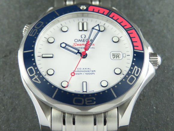 Omega Seamaster Diver 300 Meters Co-Axial Commander's Watch James Bond 007 Limited Edition