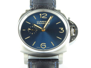 "Panerai Luminor Due 3 Days Titanium Blue Dial 42 mm PAM 728 ""T"" Series"