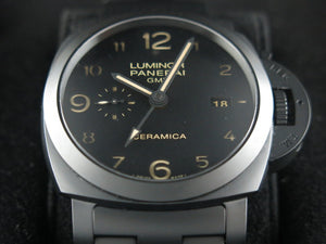 "Panerai Luminor 1950 3 Days GMT Power Reserve Automatic Ceramic 44 mm ""O"" Series PAM 438"