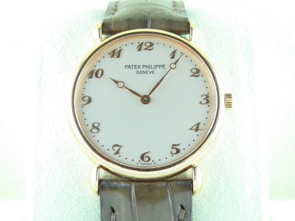 Patek Philippe Calatrava 18 ct. Rose Gold Breguet Hands and Hour Markers 3820