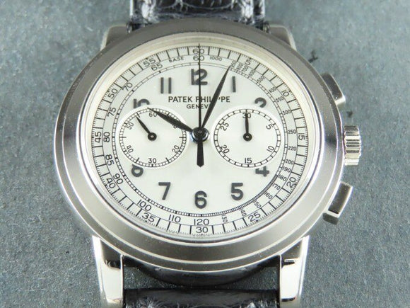 Patek Philippe Chronograph Complications 18 ct. White Gold 42 mm New Old Stock 5070 August 2007