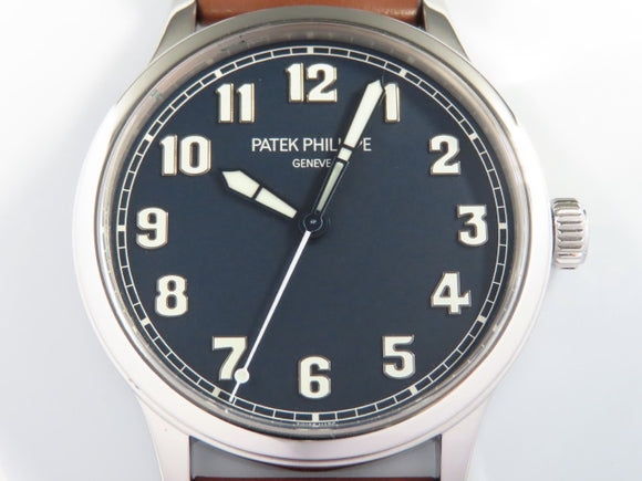 Patek Philippe Calatrava 42 mm Stainless Steel Blue Lacquer Dial New York Limited Edition 5522