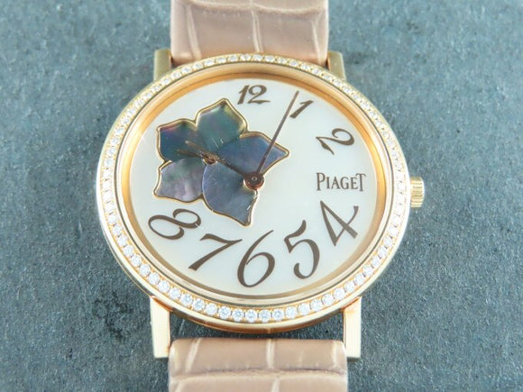 Piaget Altiplano Manual Winding 18 ct. Rose Gold 34 mm 72 Diamonds 0.5 ct.