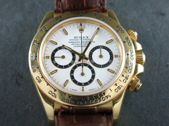 Rolex Daytona Zenith 18 ct. Yellow Gold Inverted 6