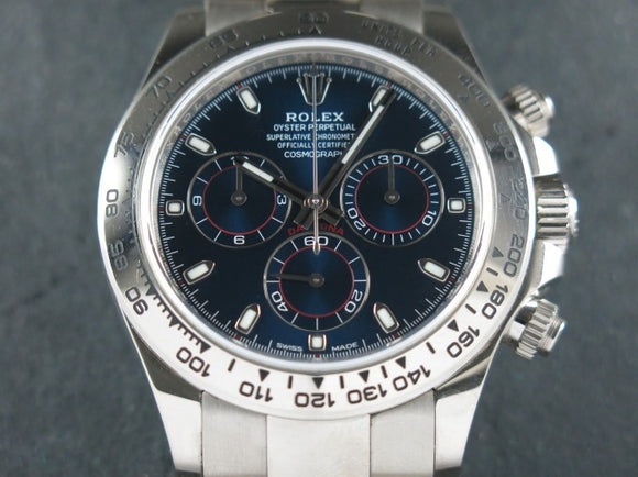 Rolex Daytona 18 ct. White Gold Blue Dial