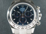 "Rolex Daytona 18 ct. White Gold Blue Dial ""Alphanumeric"" Series 116509"