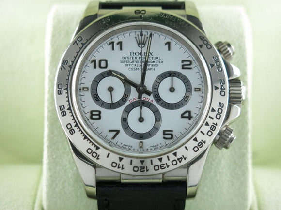 Rolex Daytona Zenith 18 ct. White Gold