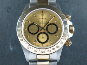 "Rolex Daytona Zenith 18 ct. Yellow Gold / Stainless Steel Inverted 6 ""T"" Series 16523"