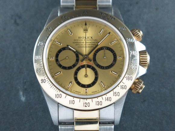 Rolex Daytona Zenith 18 ct. Yellow Gold / Stainless Steel Inverted 6