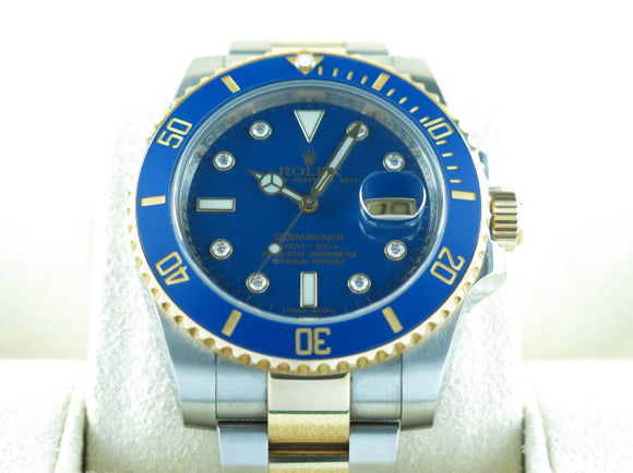 Rolex Submariner Ceramic Bezel Diamond Hour Markers 18 ct. Yellow Gold / Stainless Steel