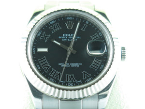 "Rolex Datejust II 41 mm 18 ct. White Gold Fluted Bezel ""G"" Series 116334"