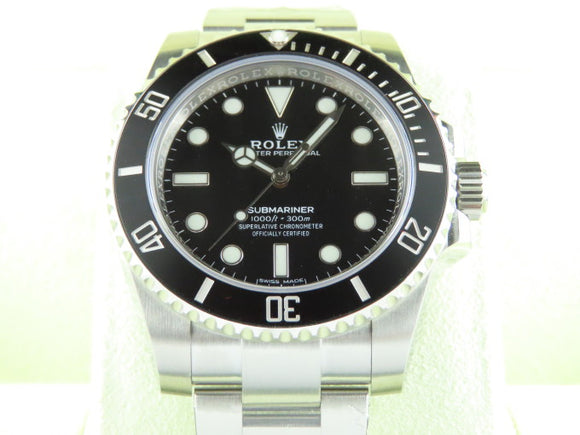 Rolex Submariner No Date Ceramic Bezel 114060 July 2020