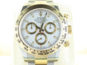 Rolex Daytona 18 ct. Yellow Gold / Stainless Steel White Dial 116503