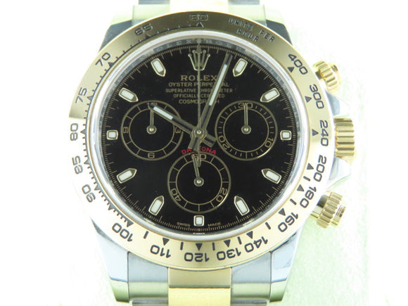 Rolex Daytona 18 ct. Yellow Gold / Stainless Steel Black Dial 116503 September 2020