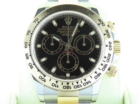 Rolex Daytona 18 ct. Yellow Gold / Stainless Steel Black Dial 116503 February 2018