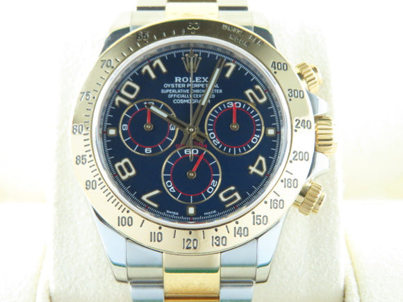 Rolex Daytona 18 ct. Yellow Gold / Stainless Steel Racing Blue Dial