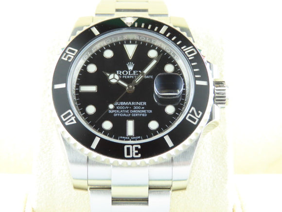 Rolex Submariner Date Ceramic Bezel 116610 September 2016