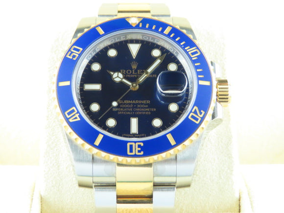 Rolex Submariner Ceramic Bezel 18 ct. Yellow Gold / Stainless Steel Blue Dial