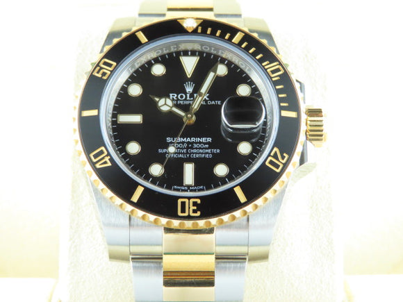 Rolex Submariner Ceramic Bezel 18 ct. Yellow Gold / Stainless Steel Black Dial 116613 2019
