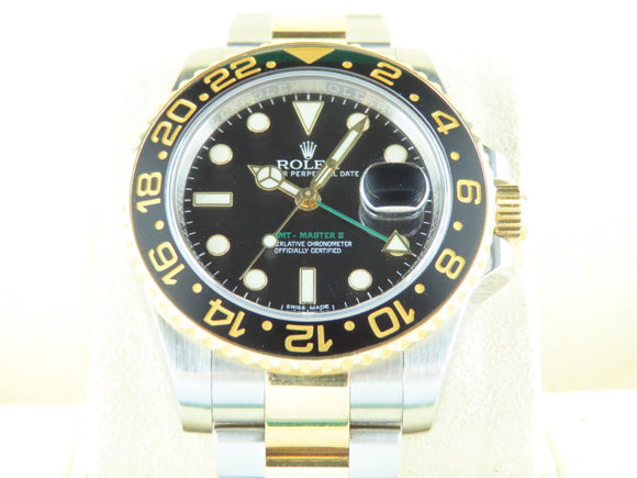 Rolex GMT Master II Ceramic Bezel 18 ct. Yellow Gold / Stainless Steel 116713