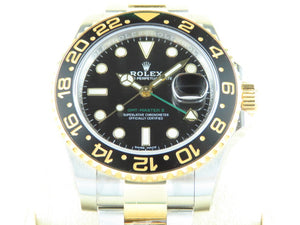 Rolex GMT Master II Ceramic Bezel 18 ct. Yellow Gold / Stainless Steel New Old Stock Full Stickers 116713 2019