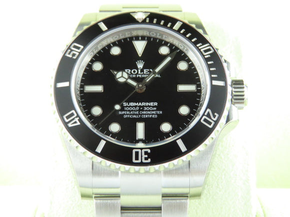 Rolex Submariner No Date 41 mm Ceramic Bezel 124060 Stickers Intact New