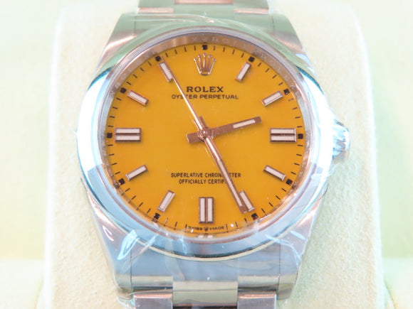 Rolex Oyster Perpetual 36 mm Yellow Dial 126000