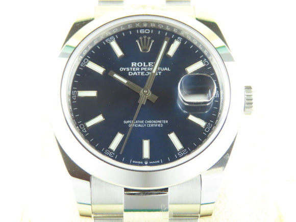 Rolex Datejust 41 mm Blue Dial 126300