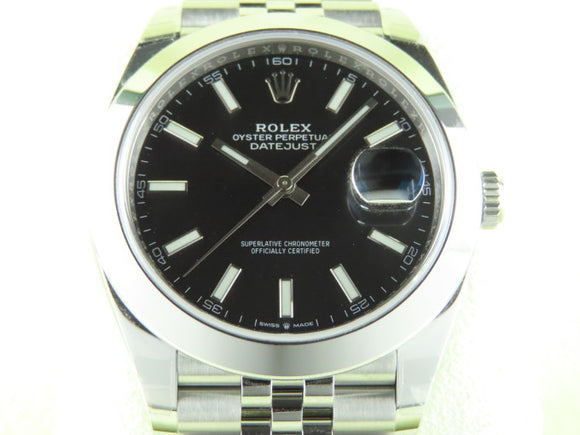 Rolex Datejust 41 mm Black Dial Jubilee Bracelet 126300 New