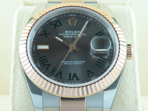 Rolex Datejust 41 mm 18 ct. Rose Gold / Stainless Steel Wimbledon Dial 126331
