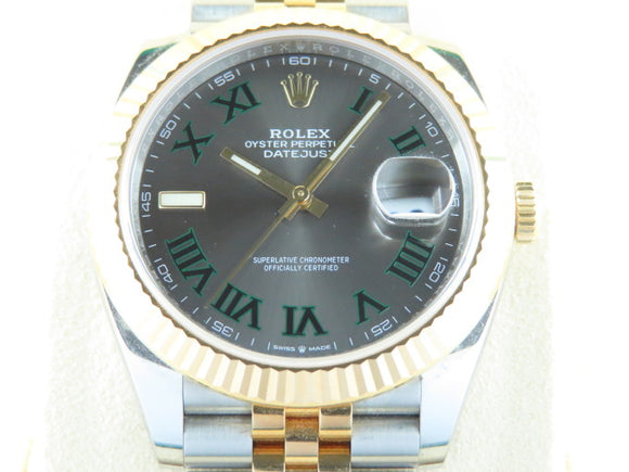 Rolex Datejust 41 mm 18 ct. Yellow Gold / Stainless Steel Wimbledon Dial 126333
