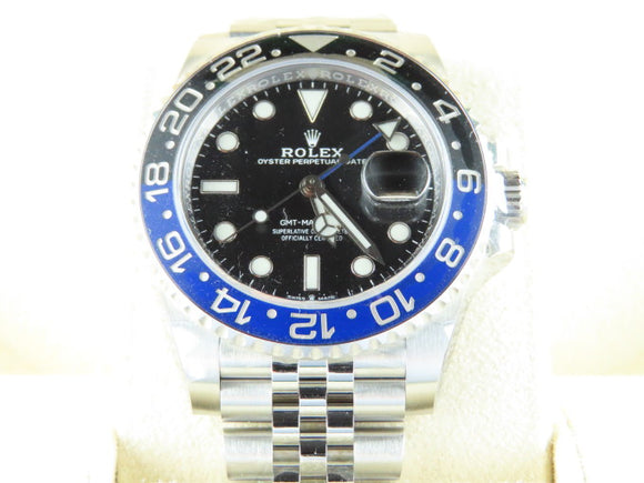 Rolex GMT Master II Ceramic Bezel Batgirl 126710 New Full Stickers
