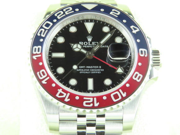 Rolex GMT Master II Ceramic Bezel Pepsi 126710 Unworn Full Stickers December 2020