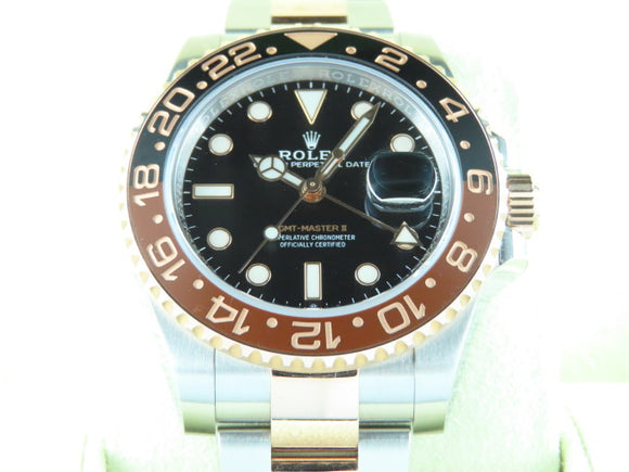 Rolex GMT Master II Ceramic Bezel 18 ct. Rose Gold / Stainless Steel Rootbeer 126711