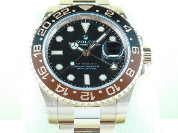 Rolex GMT Master II Ceramic Bezel 18 ct. Rose Gold Rootbeer 126715