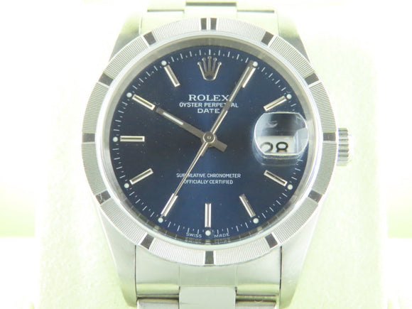 Rolex Datejust 34 mm Blue Dial
