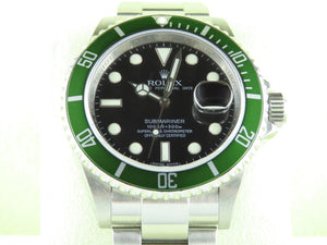 "Rolex Submariner Green Bezel 50th Anniversary Kermit ""M"" Series 16610LV Undated"