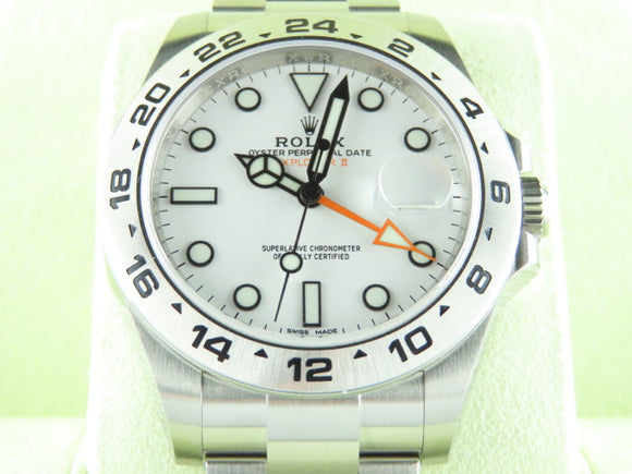 Rolex Explorer II 42 mm White Dial 216570 August 2015