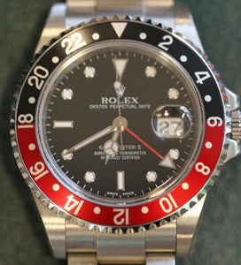 "Rolex GMT Master II Coke ""Y"" Series 16710"