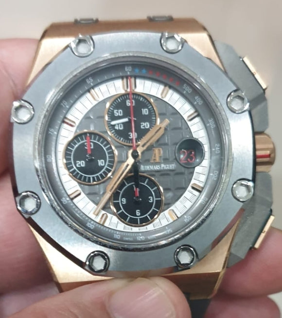 Audemars Piguet Royal Oak Offshore Chronograph Ceramic Bezel 18 ct. Rose Gold Michael Schumacher Limited Edition 44 mm