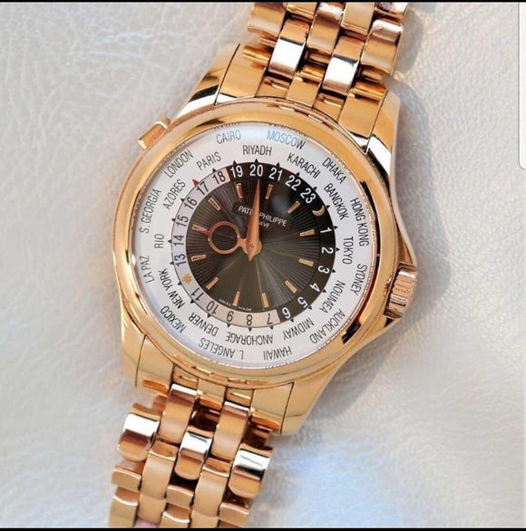 Patek Philippe World Time 18 ct. Rose Gold