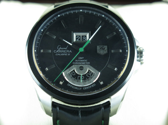 Tag Heuer Grand Carrera Calibre 8 RS Grande Date GMT Singapore F1 2008 Limited Edition WAV5114