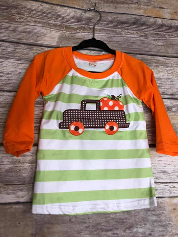 kids pumpkin tee